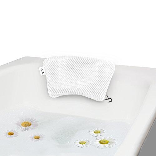 YLeing Badewannenkissen 3D Mesh Luxus Spa Bad Kissen, Weiche Nackenstütze mit Rutschfeste Greif-Saugnäpfe für Badewanne Mold Resist Kissen -