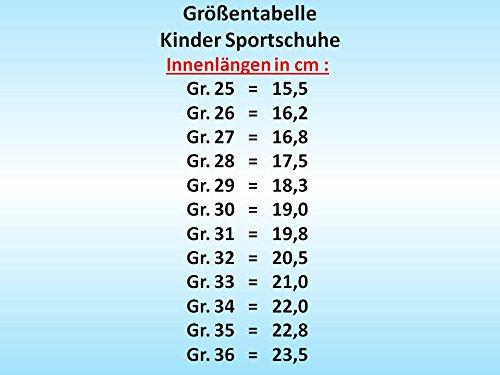 GIBRA® Kinder Sportschuhe für die Turnhalle, mit Klettverschluss, schwarz/orange, Gr. 25-36 Schwarz/Orange