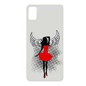 Vibhar Premium Printed Matte Designer Back Case Cover for HTC Desire 826 - Grey wing