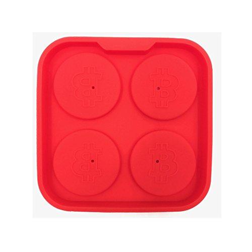 Eisgitter, Chshe, Bitcoin-Eisgitter, Gefrierform-Puddingriegel, Schokoladenhersteller, Form-Eiswürfel (Rot)