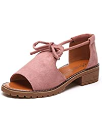 KMM - Zapatillas de Piel para mujer multicolor, color Rojo, talla 37