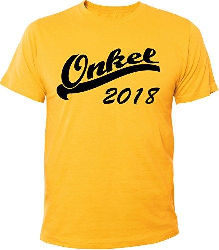 Mister Merchandise Herren Men T-Shirt Onkel 2018 Tee Shirt bedruckt Gelb