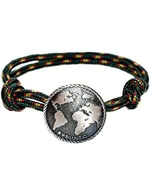 Pulsera unisex #YPUNTO® con medalla de plata de ley y cordón de Nylon