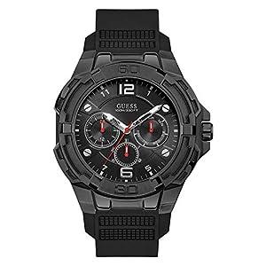 GUESS Reloj Analógico para Hombre de Cuarzo con Correa en Silicona W1254G2