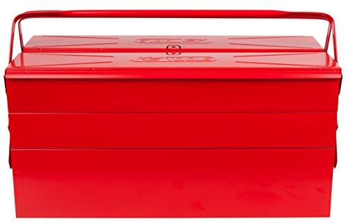 KS TOOLS 999.0120 Caisse à outils métallique, 5 compartiments - 430 x 200 x 200 mm