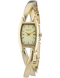 DKNY  NY8680 - Reloj de cuarzo para mujer, con correa de acero inoxidable, color dorado