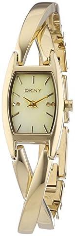 DKNY Damen-Armbanduhr Analog Quarz Edelstahl beschichtet NY8680