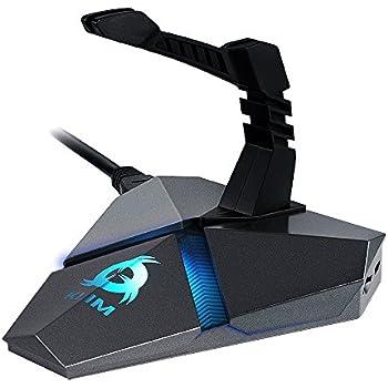 KLIM Bungee pour Souris - Hub USB x 3 3.0 - Multi fonction - Matériel Haute Qualité - Rétro-éclairé - Gestionnaire de câbles - Garantie 5 ans - [ Nouvelle Version ]