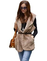 Imixcity Ladies Hoodie Long Vest Jacket Coat
