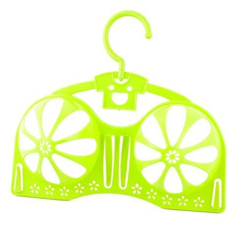 DealMux plástico hogar Brassiere Tendedero de Almacenamiento del Protector de la Talladora del Titular de lavandería Sujetador Percha Verde