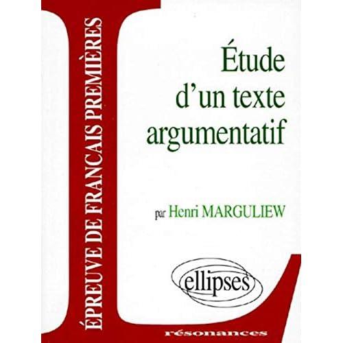Epreuves anticipées de français, premier sujet, étude d'un texte argumentatif
