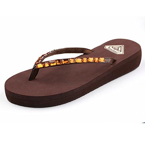 ZPPZZP Ms sandali pantofole come artificiali del trapano trascinare spessa 35EU