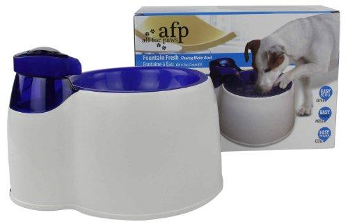 Trinkbrunnen für Hunde und Katzen - weiss-blau