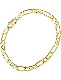 Citerna Men's 9 ct Yellow Gold Figaro Bracelet of Length 22 cm