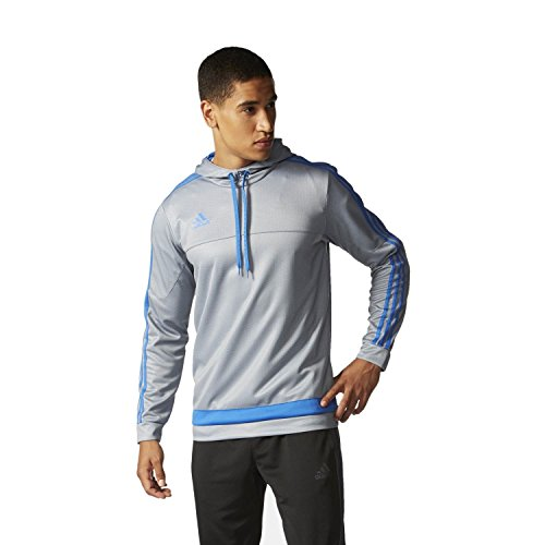 adidas Performance Tiro 15 + Gray & Royal Blue Pullover Hoody Sweatshirt (Medium) -