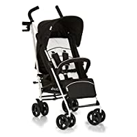 Hauck Speed Plus Four Wheel, From Birth to 22Kg, Umbrella Fold Pushchair with raincover, Black