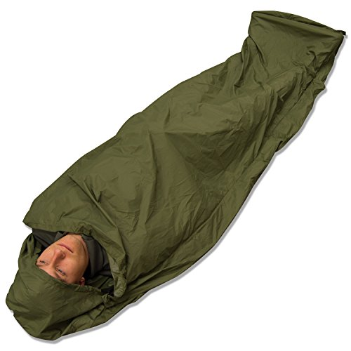 41p92z5r3ZL. SS500  - Andes Olive Green Waterproof Bivvy Bag Sleeping Bag Cover Camping Fishing, Taped Seams, 235 x 85cm