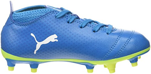 Puma Herren One 17.4 FG Fußballschuhe, Blau (Atomic Blue-White-Safety Yellow), 41 EU