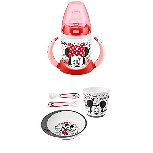 Nuk - Biberón Minnie Mouse de silicona, 150 ml
