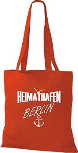 Shirtstown Stoffbeutell Heimathafen Berlin viele Farben Rot