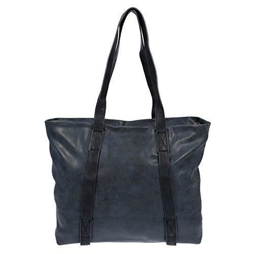 Christian Wippermann®, Borsa a spalla donna Nero nero 48x32x14 cm Blau