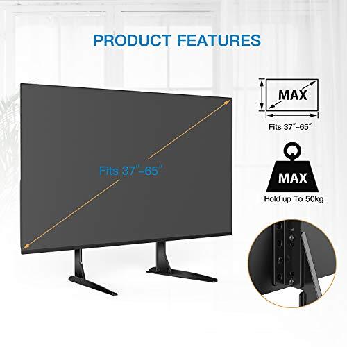 """41p94WuZ2zL - Soporte Universal de TV de Sobremesa para Pantalla Plana de 37-65"""", LCD Televisores con Base de Patas de Altura Ajustable para Soportar hasta 50kg, VESA hasta 800x400mm"""
