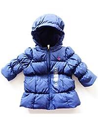 Ralph Lauren chaqueta para niña de plumón, azul con capucha para hombre