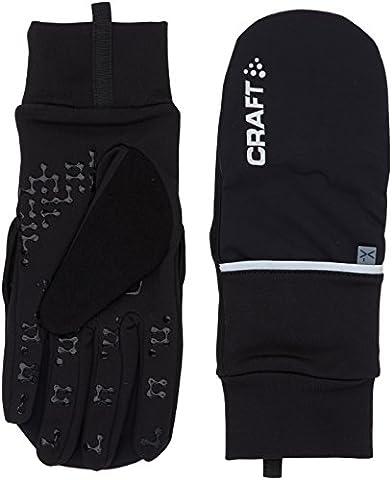 Craft Radhandschuh Lang 2 In 1 Hybrid Weather Gloves, Black,