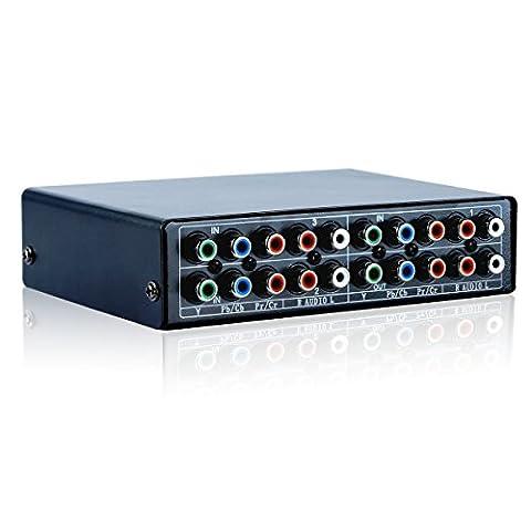 3 Port Component AV Video Switch Box Hub Splitter RGB Sélecteur Convertisseur 3 Entrée 1 Sortie pour Xbox 360 Wii PS2 DVD PS3