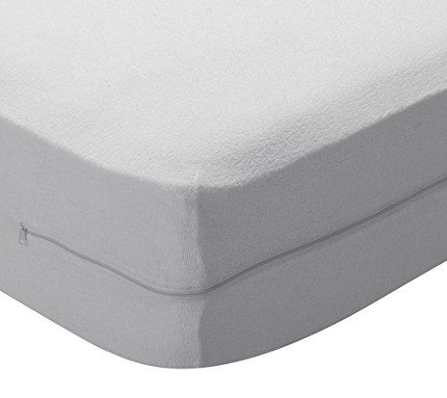 Pikolin Home - Funda de colchón rizo algodón, bielástica, 80x190/200cm-Cama 80 (Todas...