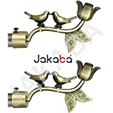 Jakaba Antique Brass Curtain Finials (Without Supports) - Pack Of 2 Pcs (Finials 1 Pair) : Curtain Brackets Set/Holders - Jkbatx91301_Wos
