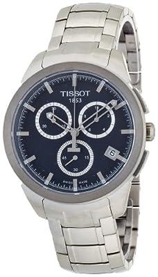 Tissot Titanium T069.417.44.041.00 de cuarzo para hombre, correa de titanio color gris (cifras luminiscentes)