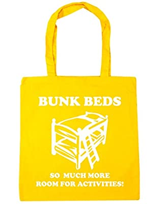 HippoWarehouse Bunkbeds, So Much More Room For Activities! Movie Quote Tote Shopping Gym Beach Bag 42cm x38cm, 10 litres