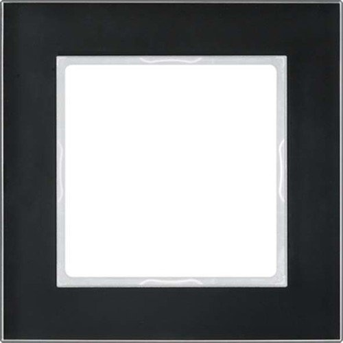 Jung a creation - Marco embellecedor negro brillante simple 84x84mm