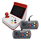 "KKmoon Retro Miniature Arcade Game Console Portable Handheld Game Machine 3"" Screen Dual Wired Joysticks 360 Classic Games Present Gift for Kids Support AV Out"