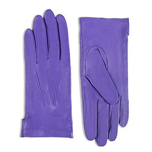 Damen Damen 100% Leder Handschuhe Mit Schleife Fleecefutter Warm Winter Grün Handschuhe & Fäustlinge