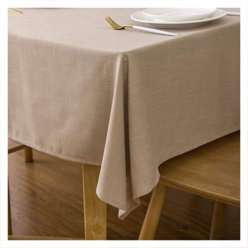 DUOMING Tischdecke Europäische Küche Haushalt Einfache Moderne Leinen Couchtisch Tischdecke Tischdecke Tischdecken (Farbe : A, größe : 140 * 250cm)