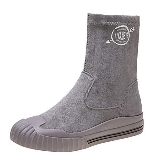 Luckycat Mujer Otoño Apretado Esbelto Botines de tacón Alto Botas Elástico Boots Largas Botas Botines Cortos De Hebilla Doble Desnuda Casual para Mujer Botines Cortos De Tacón Cuadrado