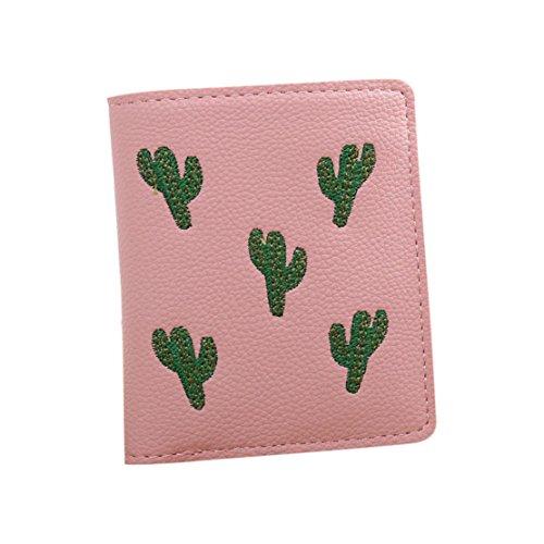 Bluestercool Portafoglio Donna Elegante Borsa Wallet Rosa