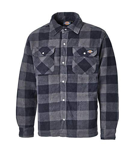 Dickies portland, camicia imbottita in pile (sh5000) verde/blu navy - red / black small
