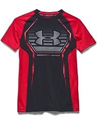 Under Armour jóvenes Fitness T-camiseta de manga corta para depósito de Up Negro Blk/Rir/Stl Talla:large