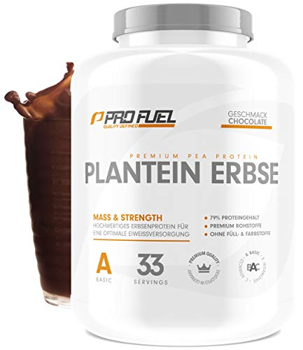 PLANTEIN ERBSE | Vegan Protein Powder • Pflanzliches Premium Eiweißpulver aus gelben Erbsen | High Protein | Cremig & Lecker | Made in Germany | 1kg - CHOCOLATE (Schokolade)