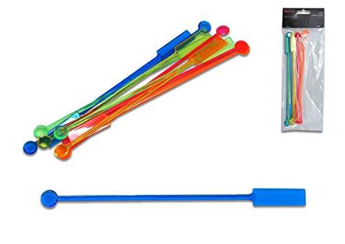 24 Stück aus Kunststoff bunt Palette Länge ca. 20 cm CoCKATAIL AGITÄT Stick Drink Festa Party Compleanno Summer CASA Bar Getränkehalter ()