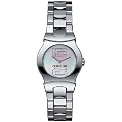 Cerruti Women's Watch with White Dial Display and White Stainless Steel C-Emozione 4249615