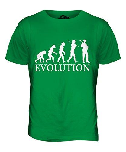 CandyMix Jazz Gitarre Evolution Des Menschen Herren T Shirt Grün