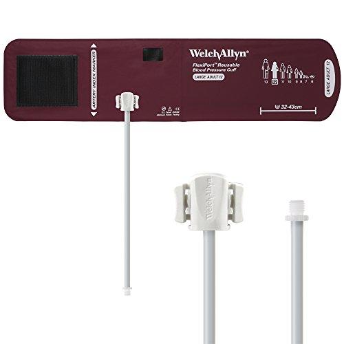 Welch Allyn reuse-12-1SC Flexi 1Port Blutdruckmanschette, wiederverwendbar, Schlauch, Stecker Schraube Anschluss, Größe 12, große Erwachsene