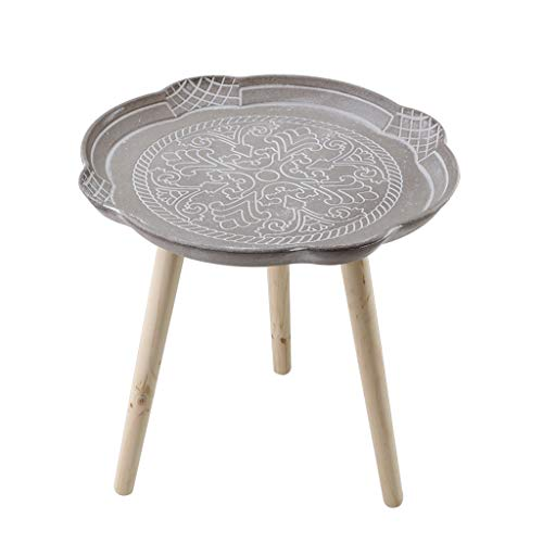 Lightyears Petite Table Basse, Table De Chevet Ronde, Table D'appoint De Canapé, Petite Table À Manger, Table D'ordinateur Portable, 44 * 43cm