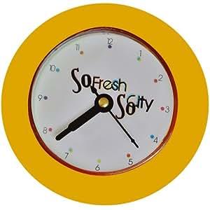Promobo horloge murale d co city salle de bain ventouse orange cuisine maison - Horloge de salle de bain ventouse ...