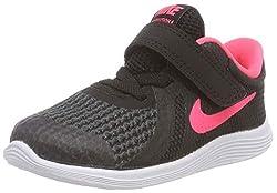 Nike Revolution 4 TDV 943308-004 Kinder, Schwarz (Schwarz/Weiß/Racer Pink), 27 EU