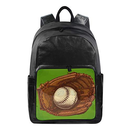 CPYang Baseball-Handschuh, Sport-Rucksack, Freizeitrucksack, Tagesrucksack, College, Schulranzen, Reiserucksack für Damen und Herren